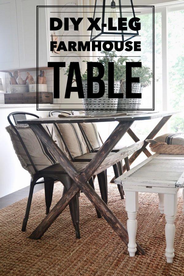 Diy x leg farmhouse table the o 39 jays the farmhouse for Farm table legs diy