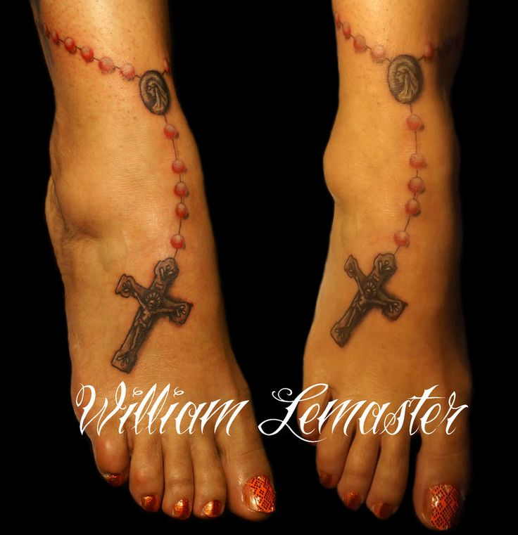 Rosary on ankle tattoo by lemaster99705 ...