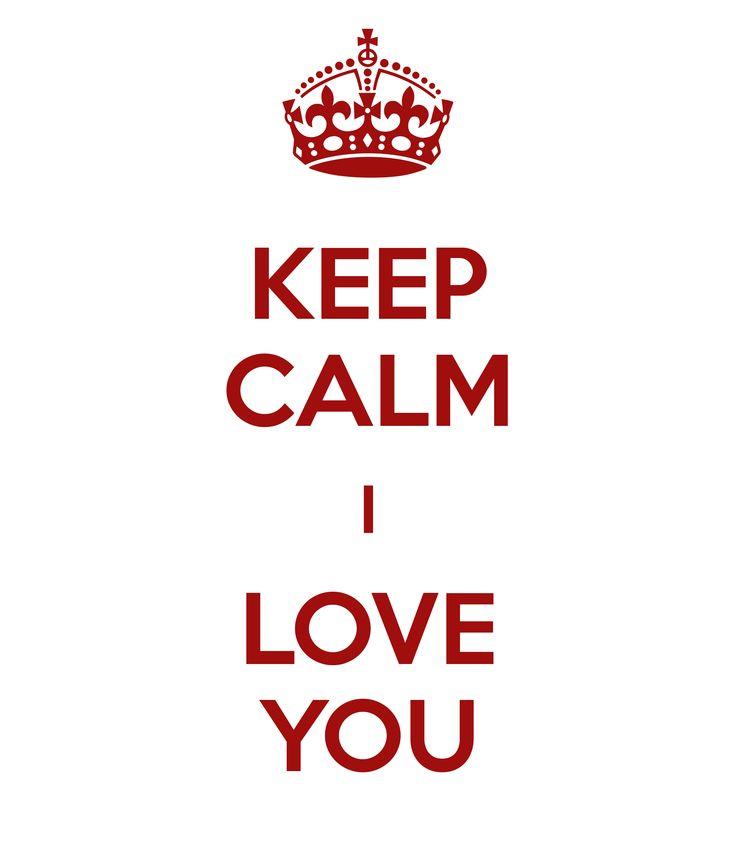Keep Calm I Love You - Love Desktop Wallpaper