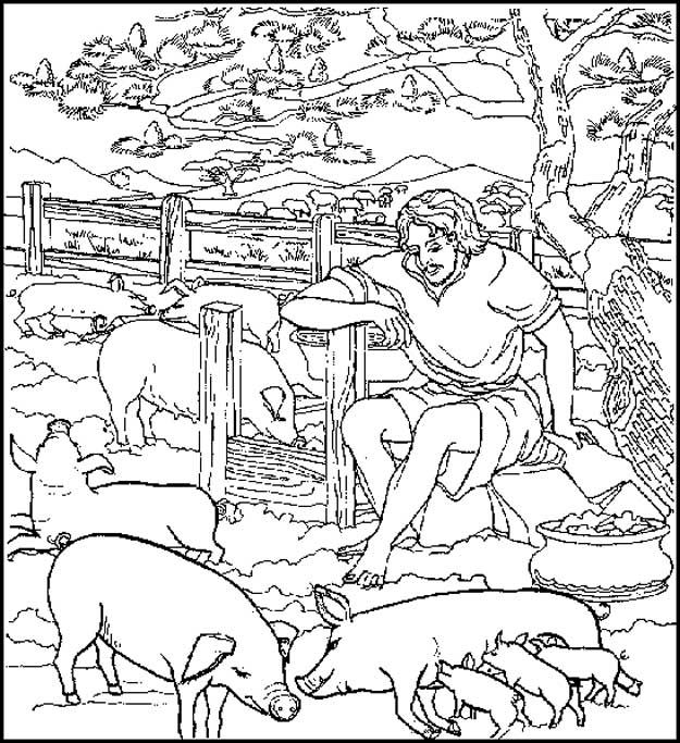 57 best bible - parable - the prodigal son images on pinterest ... - Bible Coloring Pages Prodigal Son