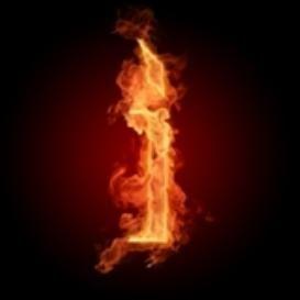 Burning Letter I