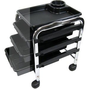 "Salon Pedicure Cart (Pedicure Trolley/EN2081) by Appearus. $90.00. 3 trays for convenient storage. Portable and lightweight. 4 casters gives you flexibility within your work space. 12""Wx14.5""Dx19.25""H. Product compartments on top for easy access. Pedicure Utility Cart. Portable pedicure cart features 3 trays for convenient storage and product compartments on top for easy access during service. Available in black only."
