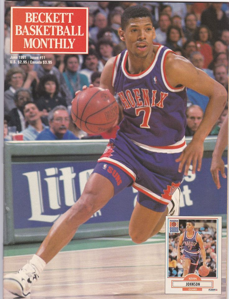 Beckett Basketball Monthly Magazine #11 June 1991 Kevin Johnson
