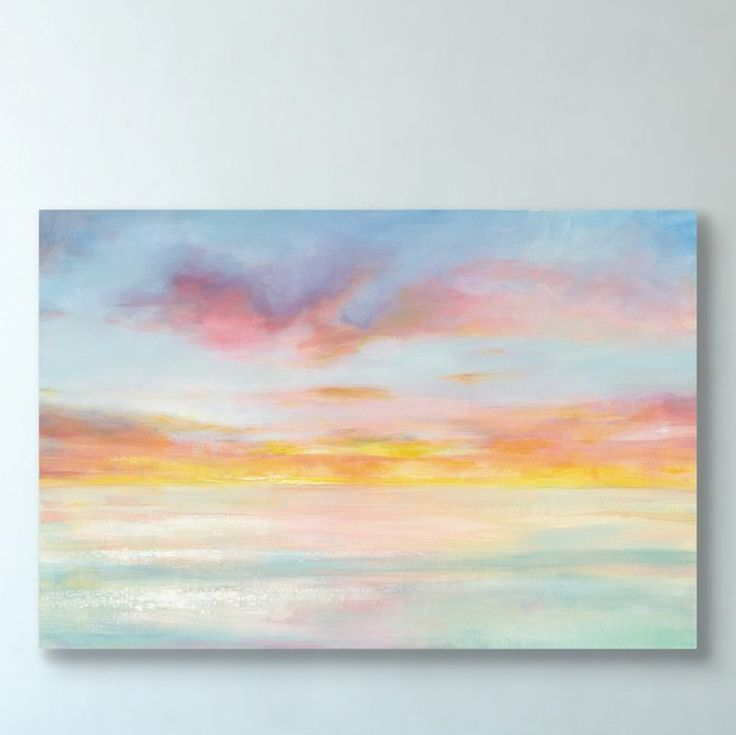 Pastel Sky Acrylic Painting Print On Canvas Acrylic Painting Canvas Abstract Art Painting Abstract Painting