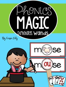 More Phonics Magic Wands:Phonics Magic ~ Bossy R WandsPhonics Magic ~ Digraph WandsPhonics Magic ~ Vowel Teams WandsBingo Dabber Phonics ~ Vowel Teams and DiphthongsYour students will love this fun phonics activity.You will love how easy these are to make and the low maintenance of this station.My store brand here on TpT is FUN!