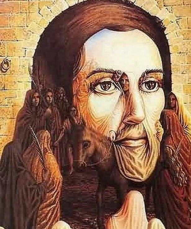 Jesus Christ  illusion on face