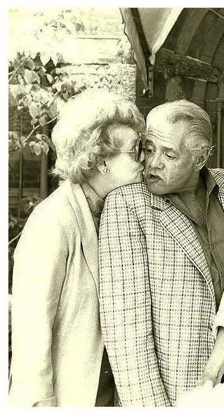 Lucille Ball and Desi Arnaz in the 1980's, years after their divorce.