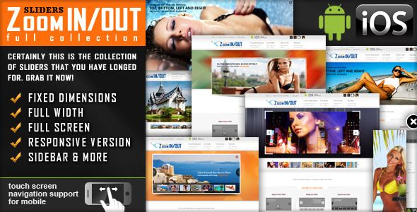 jquery Slider Zoom In/Out Effect Fully Responsive