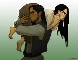 Elide and Lorcan. I still haven't read empire of storms but from what I'm hearing this is exactly how I picture them:D