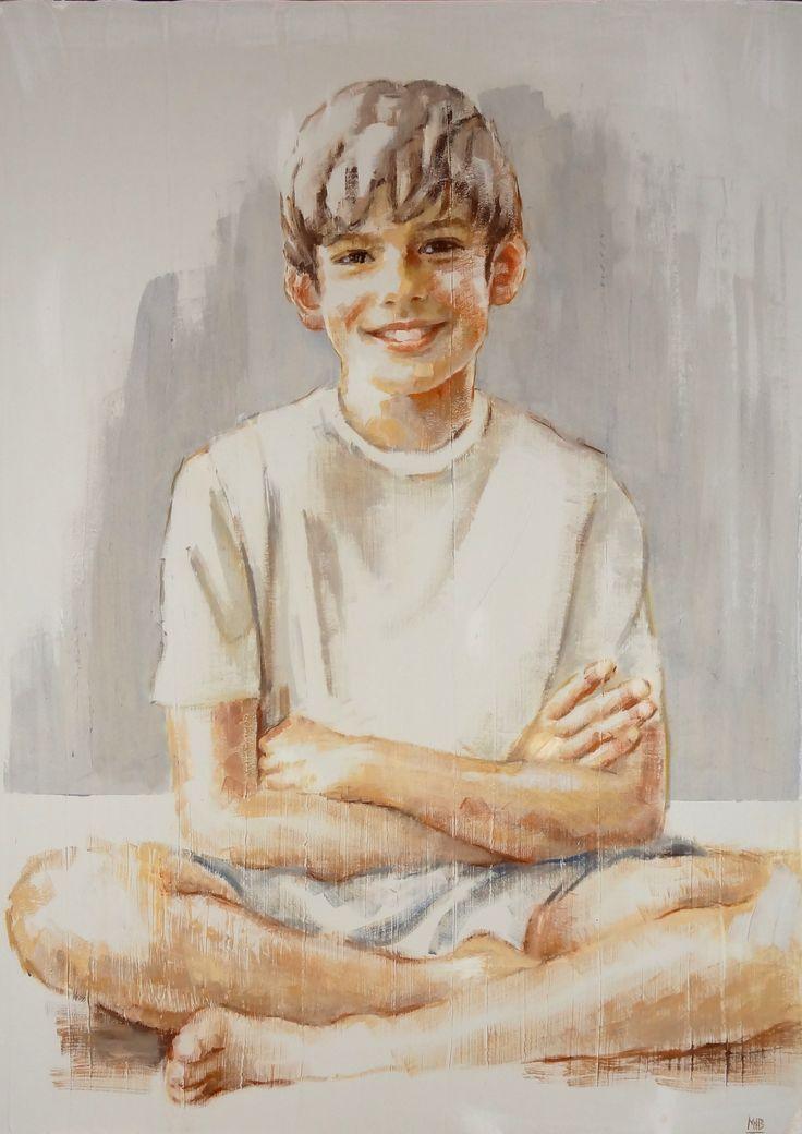 niño retrato 50 x 70 - M. Isabel Barros Alcalde
