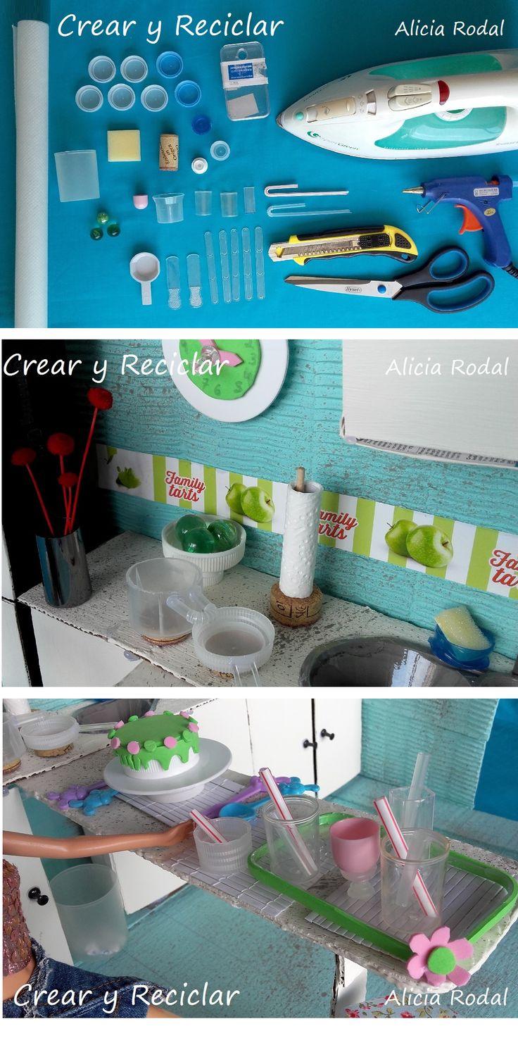 Cómo hacer miniaturas de adornos, menaje y accesorios para la cocina de las muñecas… DIY #crearyreciclar Tutorial con el paso a paso y los materiales en http://crearyreciclar.com/?p=2480