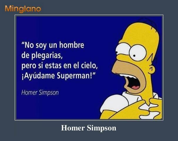 Frases de Homero Simpson sobre Superman