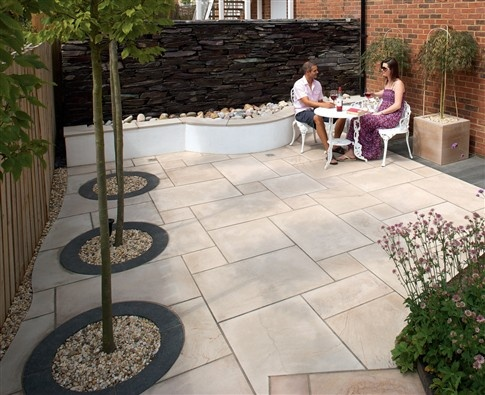1364 best hard surfaces for the garden images on pinterest for Hard surface garden designs