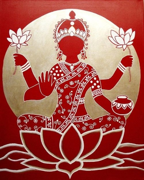The Goddess Lakshmi-  nice rangoli design for Laxmipujan during Diwali