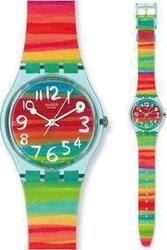 Swatch Color The Sky Multicolor Rubber Strap GS124