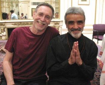 Sri Dharma Mittra with Krishna Das in 2007