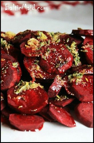 Baked Red Beets, German Style #glutenfree