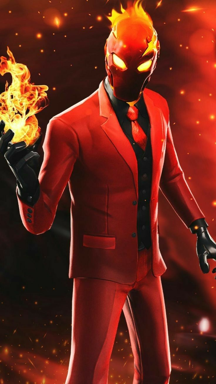 Fire Man Skin Fortinite Best Gaming Wallpapers Gaming Wallpapers Game Wallpaper Iphone