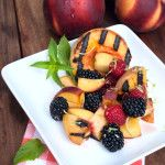 Need a new summer #recipe? Make this delicious #grilled salad with #peaches & fresh berries!