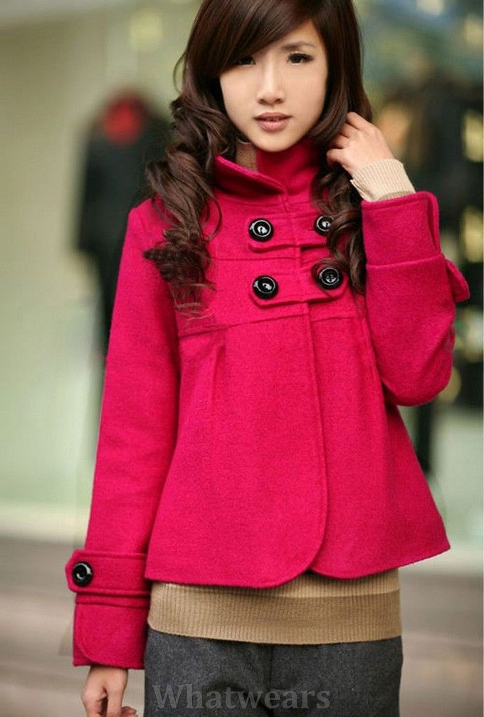 Hot Sale Women New Double-breasted Winter Trench Coat Rose W17