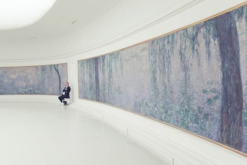 The Monet room in the Musee de L'Orangerie - one of the most hauntingly tranquil places on earth