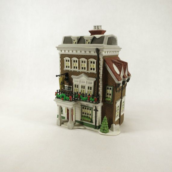 Department 56 Crown Cricket Inn 1st Edition 1992 57509 Christmas Dickens Village Heritage Village Collection Brick Stone Mansard Roof Decorative Trim