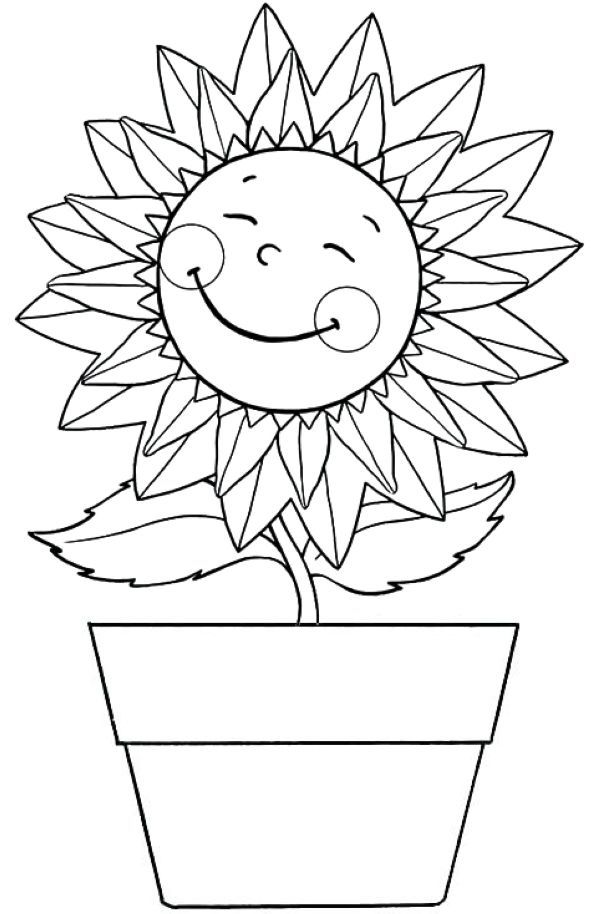Free Sunflower Coloring Pages For Kids (With images