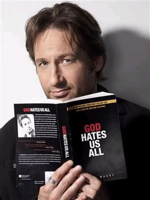 Hank Moody:: Don't tell me what to feel. All my fuckin' life people have been telling me I do things wrong, I'm always the fucking asshole, and I look around and I see everyone else is infinitely more fucked- up than I am.    I hart Hank Moody.