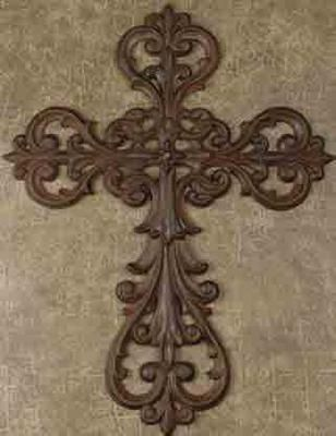 Cast Iron Wall Cross Set of 2