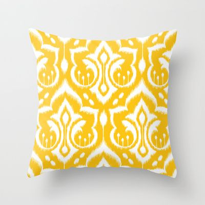 Ikat Damask Throw Pillow by Patty Sloniger - $20.00