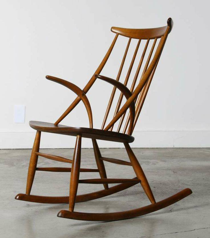 Danish Rocking Chair by Illum Wikkelso, 1958 | From a unique collection of antique and modern rocking chairs at http://www.1stdibs.com/furniture/seating/rocking-chairs/