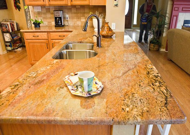 Crema Bordeaux Granite With Oak Cabinets Http