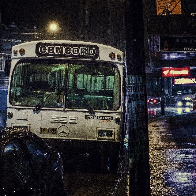 #bus #rain #street #city #night #sydney #rainynight