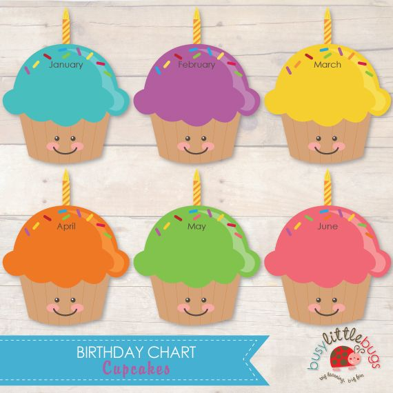 17 best images about birthday chart ideas for kids on for Birthday chart template for classroom