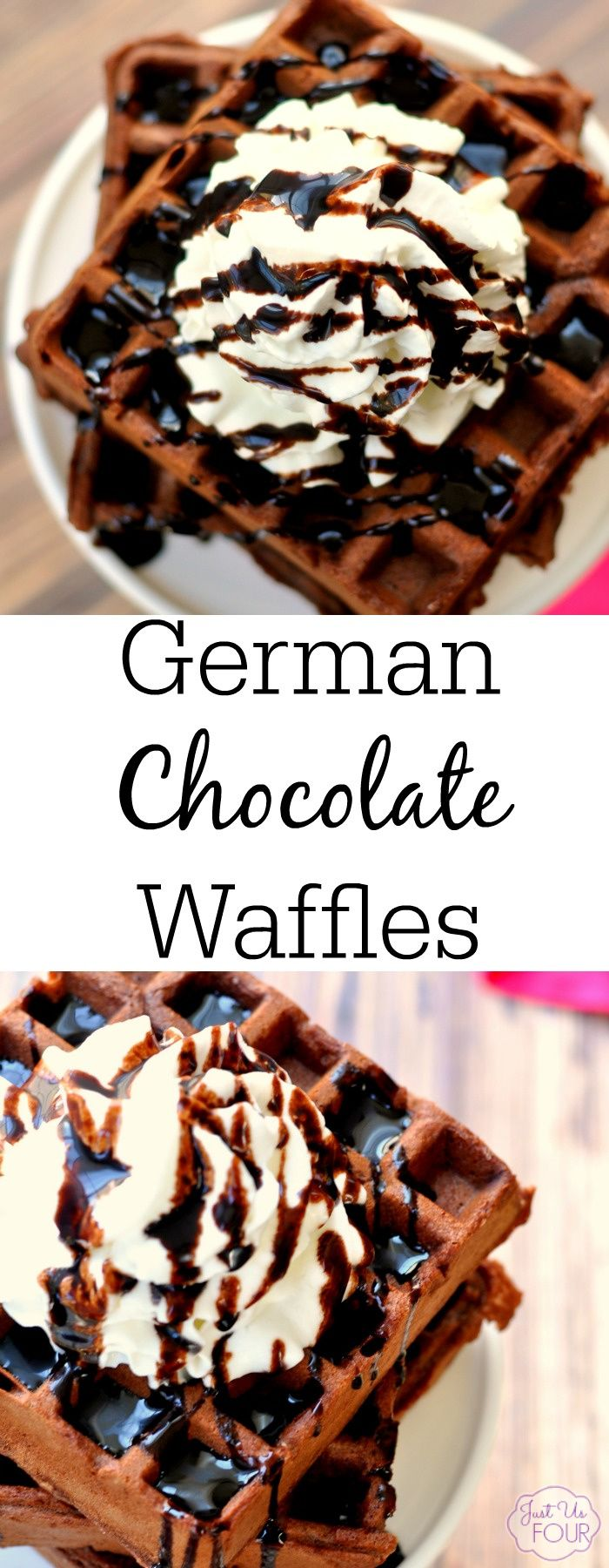 German chocolate waffles are the perfect sweet breakfast treat. Or, serve them for dessert.