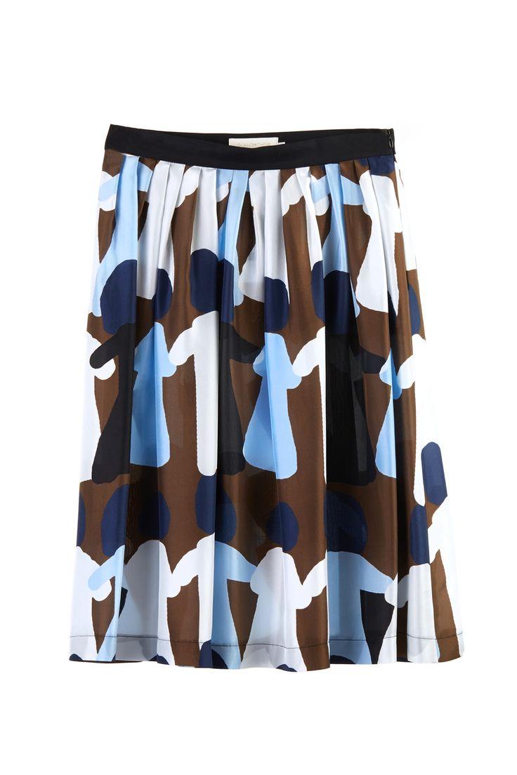 "Midi skirt in maxi ""dolls"" pattern. #midiskirt #fashion #lautrechose #ss15 #skirt #workwardrobe #season #pattern #apparel"