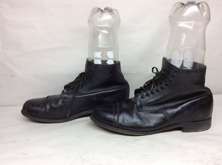 VTG MENS UNBRANDED MILITARY WORK LEATHER BLACK CHUKKA BOOTS SIZE 9 D #Unbranded #Military