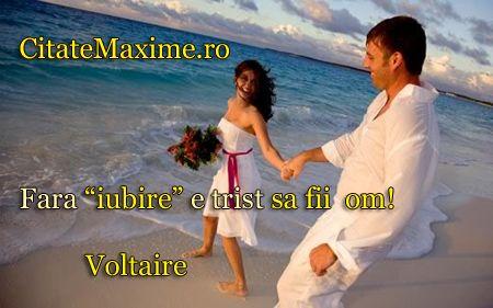 """""""Fara """"iubire"""" e trist sa fii om!"""" #CitatImagine de Voltaire Iti place acest #citat? ♥Distribuie♥ mai departe catre prietenii tai. #CitateImagini: #Iubire #Voltaire #romania #quotes Vezi mai multe #citate pe http://citatemaxime.ro/"""