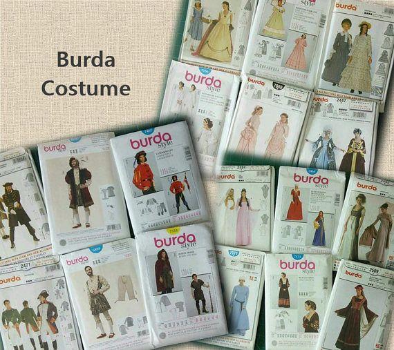 Burda, Costume, femme 10-28, homme 34-50, neuf, non coupé, Promo: 25ETSY45, voir détails