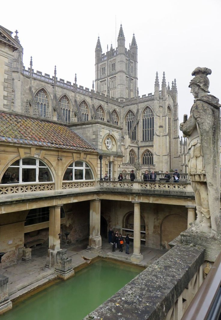 Visiting England? You have to make a stop in Bath to see The Great Bath at the Roman Baths