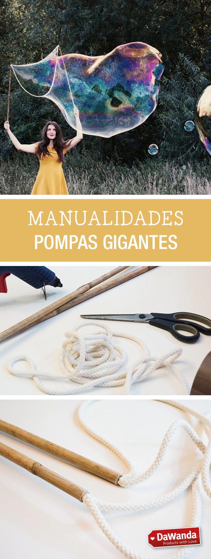 Tutoriales DIY - CÓMO HACER POMPAS DE JABÓN GIGANTES en DaWanda.es