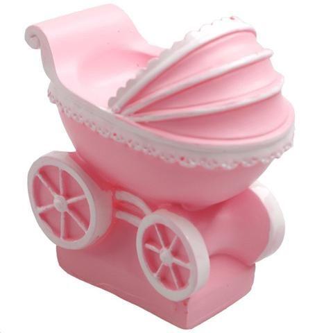 Forma 3D em Silicone de Carrinho de Bebê para Preparo de Sabonetes Artesanais, Fondant
