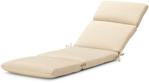 "Strathwood Basics Hardwood Chaise Lounge Sunbrella Cushion, Antique Beige by Strathwood. Save 60 Off!. $99.99. Fabric same on both sides for reversibility; made in the USA of imported materials. Measures 72"" L x 22"" W x 3.5"" H. 100-percent-acrylic cover; resists stains and fading in sunlight. Cushion with high-performance outdoor Sunbrella fabric fits Strathwood Basics Hardwood Chaise Lounge, or similarly sized chair. Gently spot clean with mild soap and cool water, then air dry...."