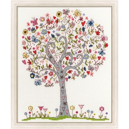Love Tree > cross-stitch-samplers > needlework- The Fox Collection - Australia's premier online needlework and craft catalogue