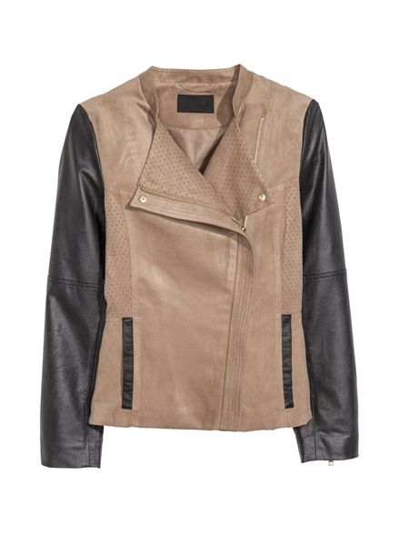 cool Casual Slim Long Sleeve Stand Collar Chammy Short Motorcycle Jacket