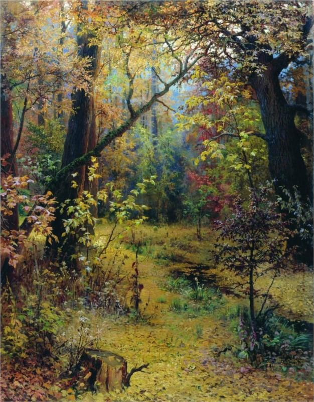 Autumn Morning 1893 - Grigoriy Myasoyedov
