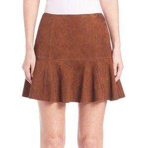 Polo Ralph Lauren Classic Suede Skirt