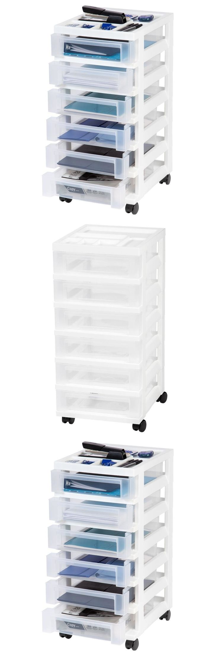White tilt out clothes storage basket bin bathroom drawer ebay - Storage Bins And Baskets 159898 Storage Bin 6 Drawer Organizer Plastic Cabinet 68 Qt White