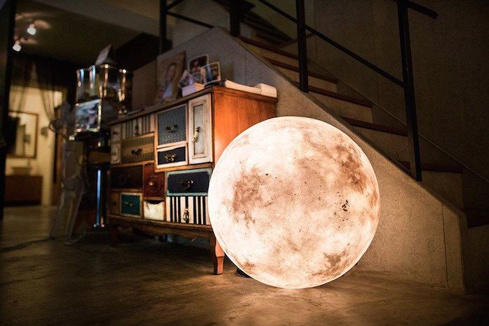 The designers behind Taiwan-based Acorn Studio created 'Luna', a unique lamp that looks like a full moon