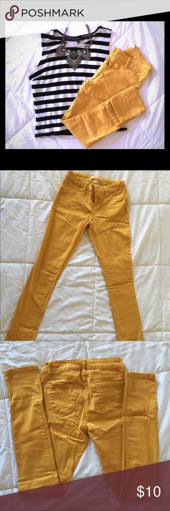 Mustard Yellow Skinny Jeans Mustard yellow skinny jeans. Stretchy material. Good Condition Jeans Skinny